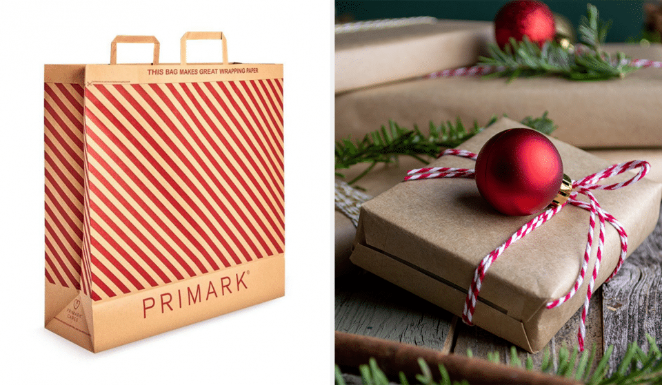 Primark Has Revamped Their Paper Bags So They Can Double Up As Christmas Wrapping Paper
