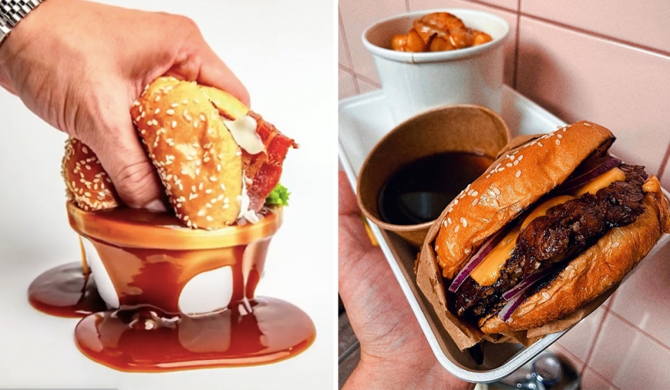 Dip Super-Stacked Burgers In Huge Pots Of Gravy At Manchester's Newest Burger Joint · Dunkin' Burgers
