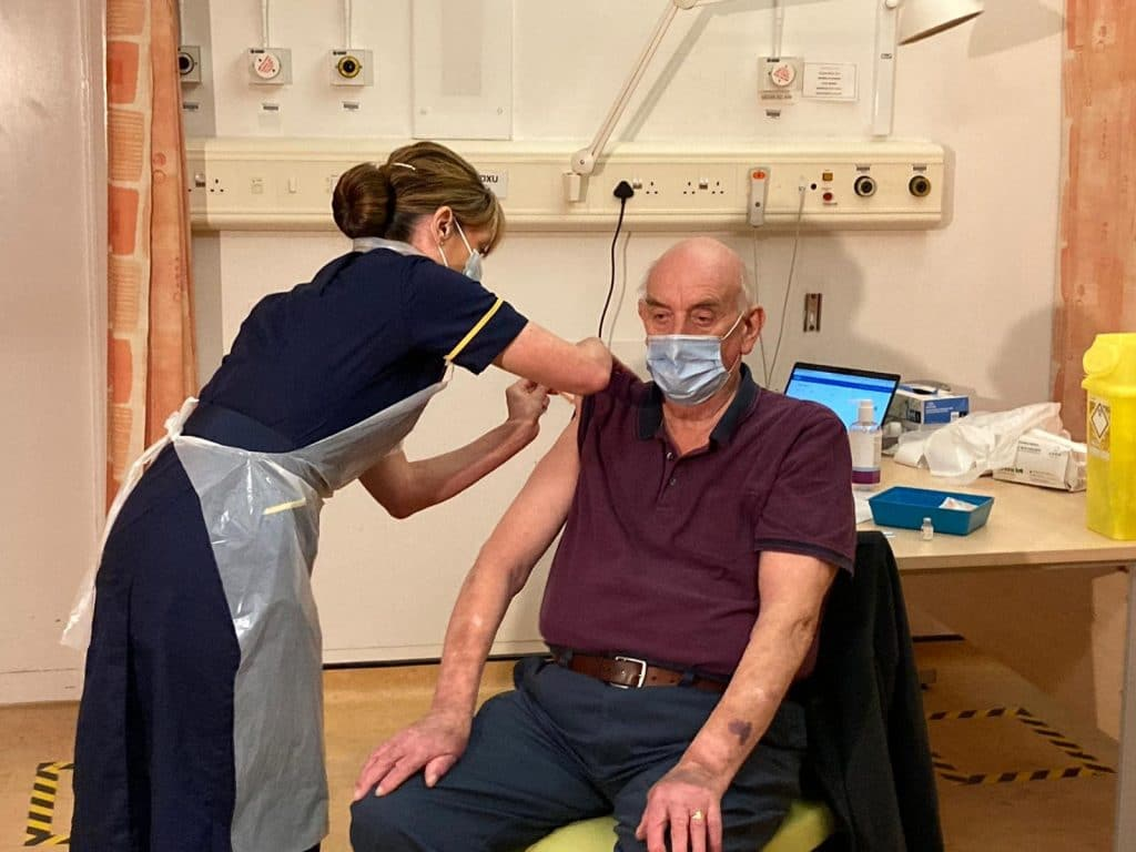 82-Year-Old Brian Pinker Becomes First Person In The World To Receive The Oxford Covid-19 Vaccine