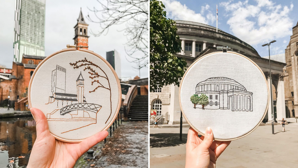 This Ancoats-Based Artist Creates Incredible Embroidered Designs Of Manchester Scenes