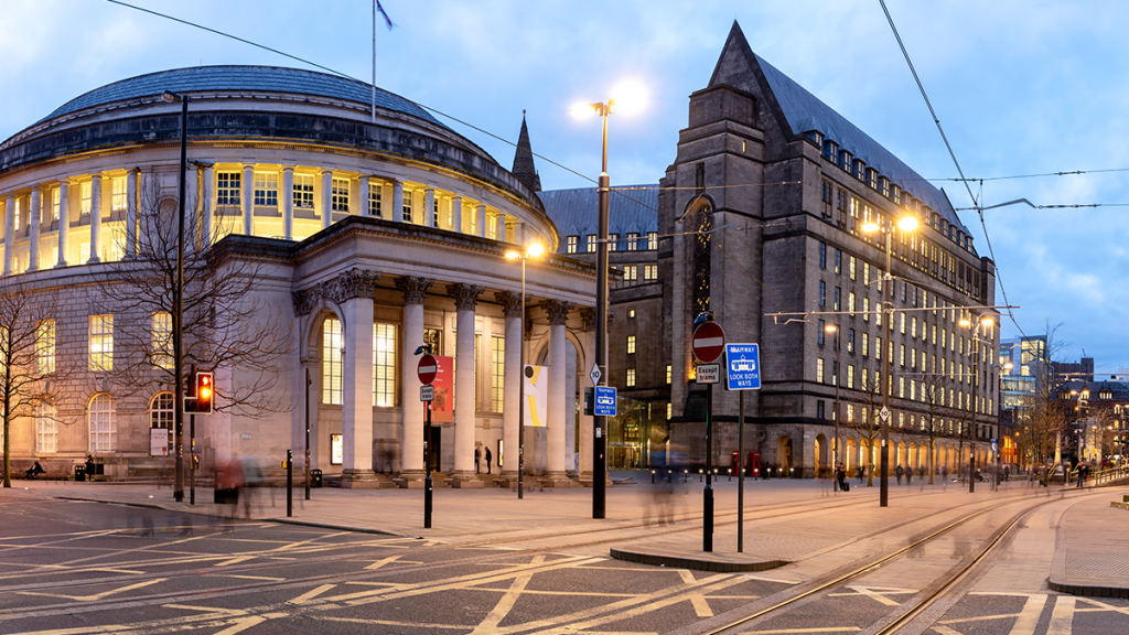 Manchester Central Library Will Light Up Purple This Weekend In A Stand Against Racism