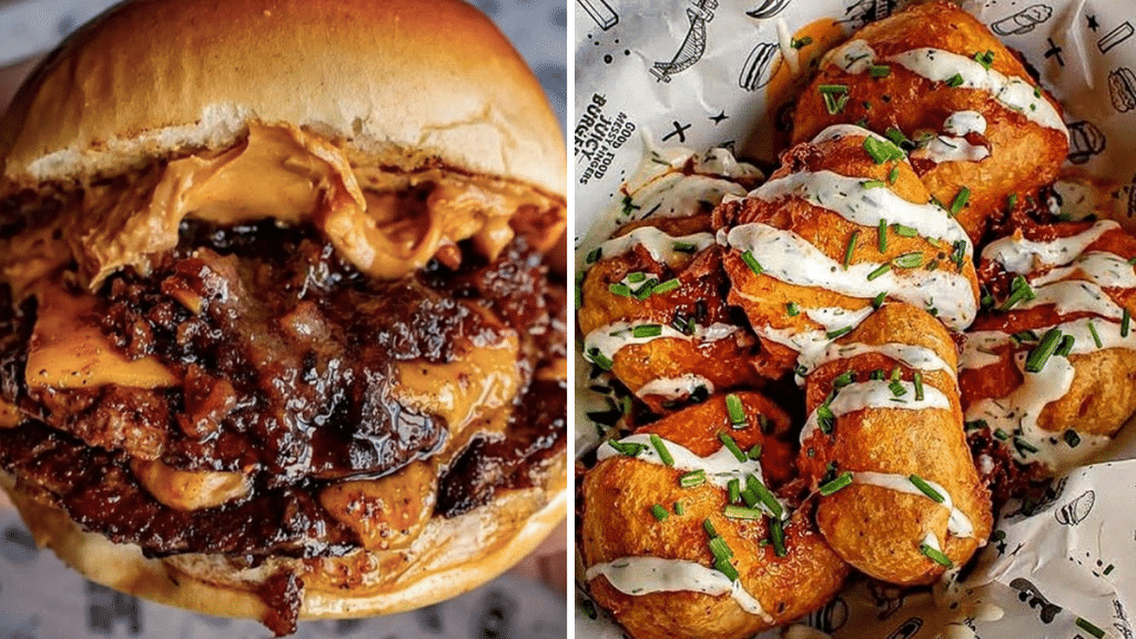 Chow Down On Peanut Butter Burgers At This Fun Manchester Burger Joint