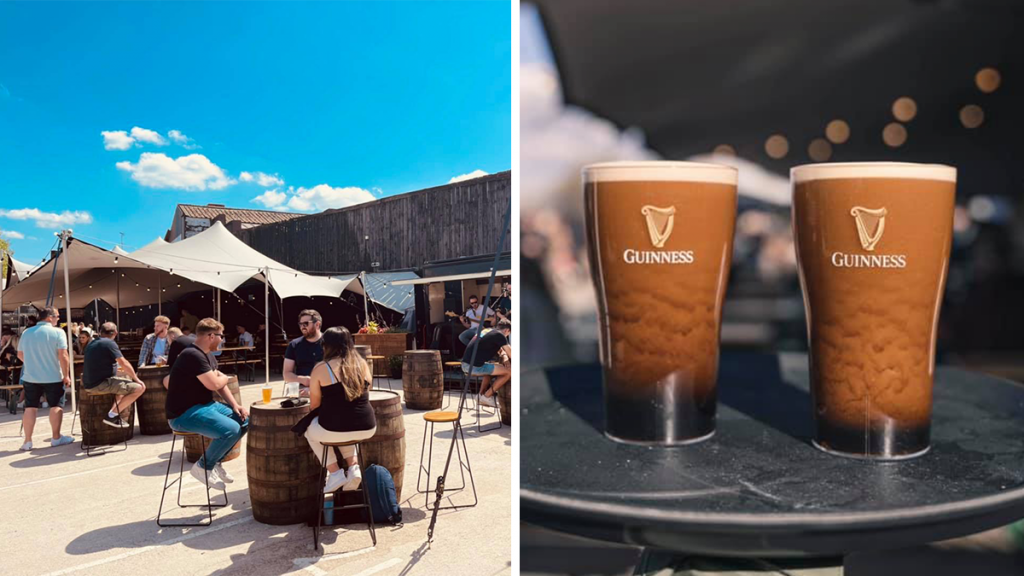 The Huge Irish Beer Garden Serving Cold Beers And Cocktails With A Side Of Big Screen Footy