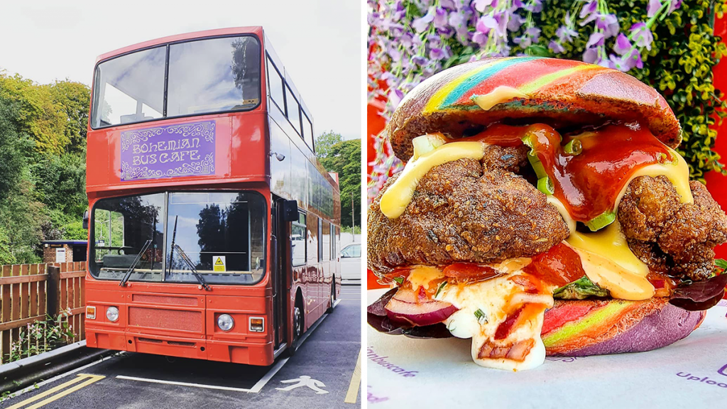 The Red Double Decker Bus That Has Been Transformed Into A Mystical Bohemian Café
