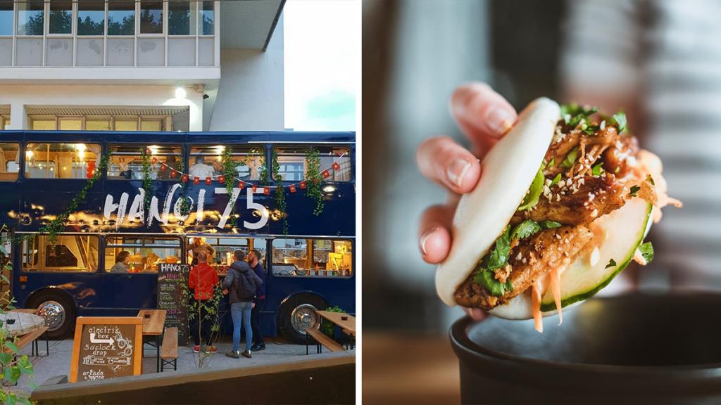 The Cosy Double Decker Bus Serving Up Delicious Bao Buns & Vietnamese Street Food
