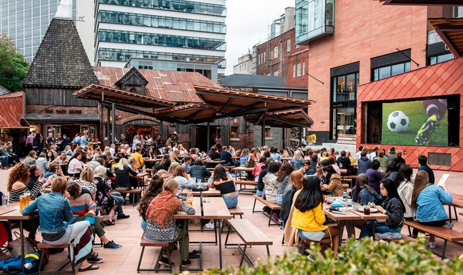Watch The Euros With An Ice Cold Beer At This Huge Sun-Trap Of A Beer Garden