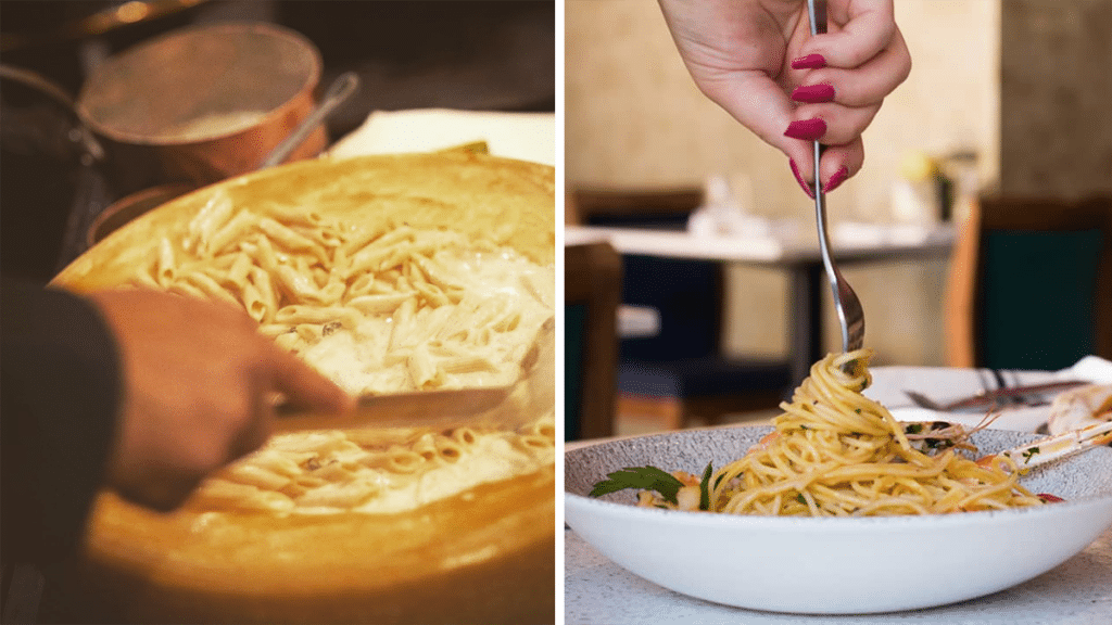 The Lovely Italian Restaurant That Makes Tasty Pasta In A Whole Wheel Of Cheese