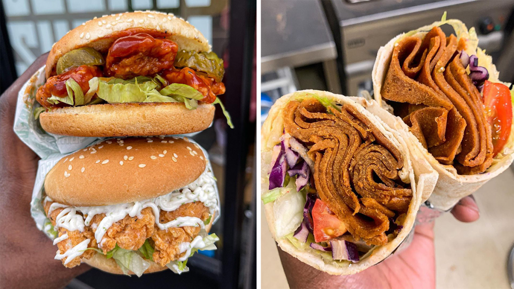 An All-Vegan Fast Food Joint Serving Kebabs And Stacked Burgers Has Opened In Piccadilly Gardens