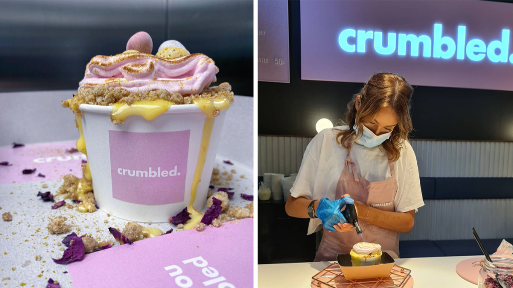 A Sweet New Cafe Dedicated To Crumble With Unlimited Custard Has Opened In The NQ