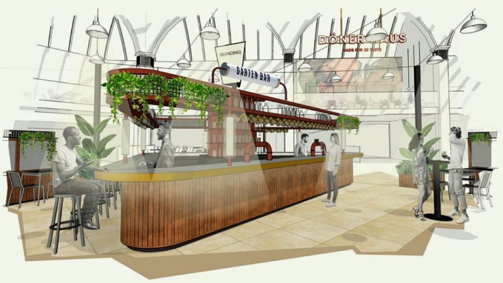 A Gorgeous 'Garden Bar' With Parma Violet Cocktails & German Beers Is Coming To The Corn Exchange