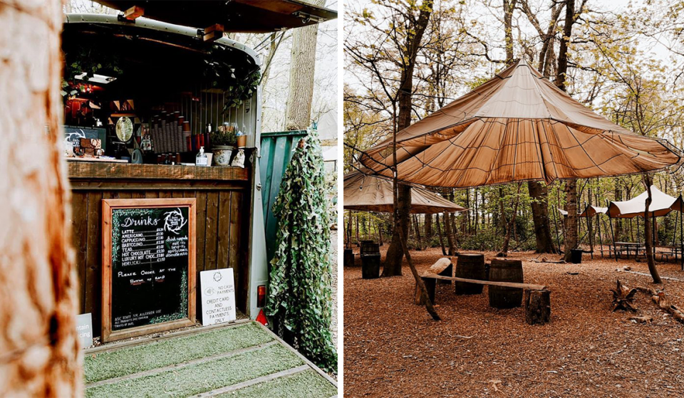 The Charming Hidden Coffee Shack & Pizzeria That's Tucked Away In The Woods