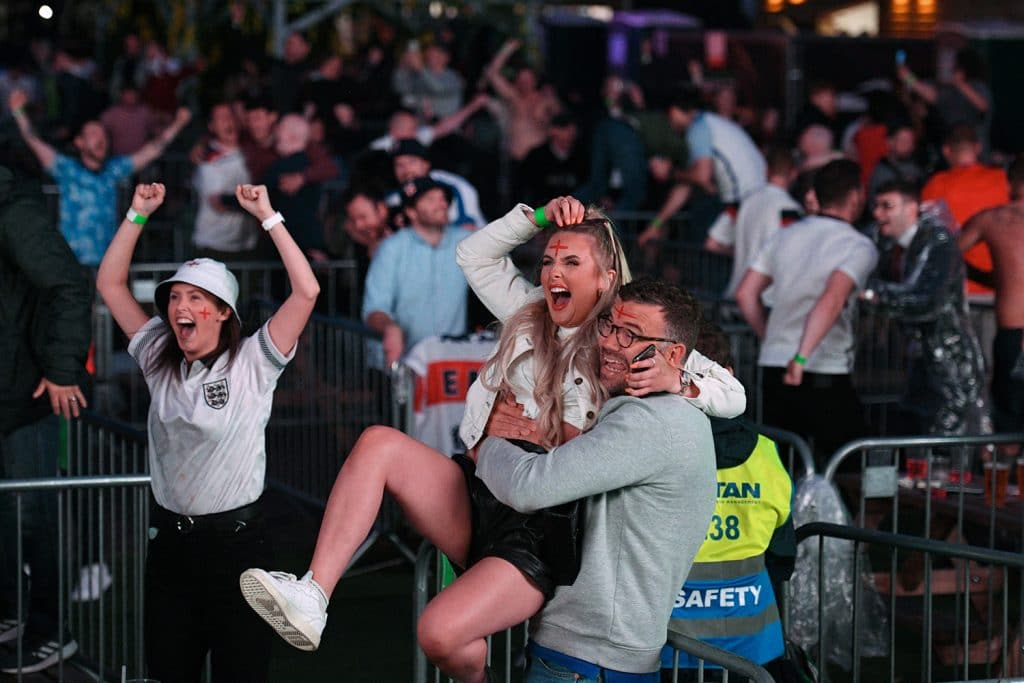These Were The Absolute Scenes In Manchester Last Night After England Reached The Euros Final