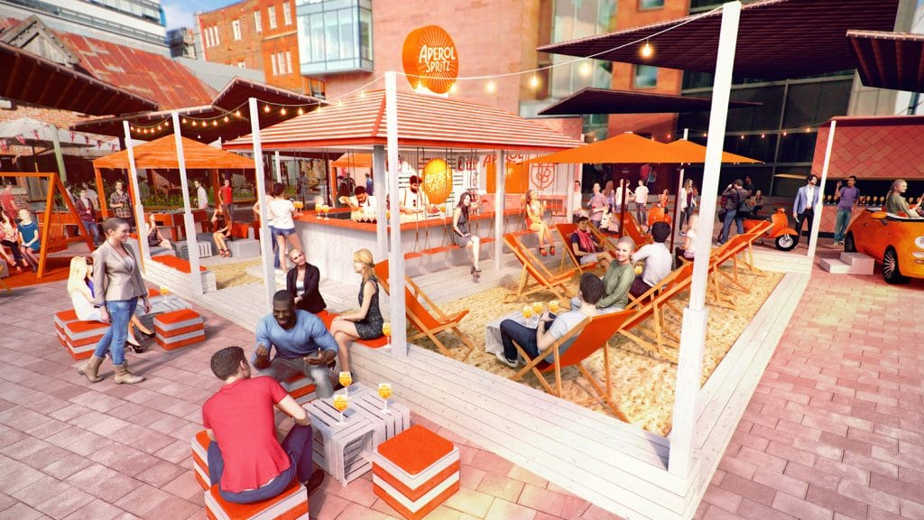 A Summery Aperol Spritz Beach Bar Has Opened Up In Spinningfields