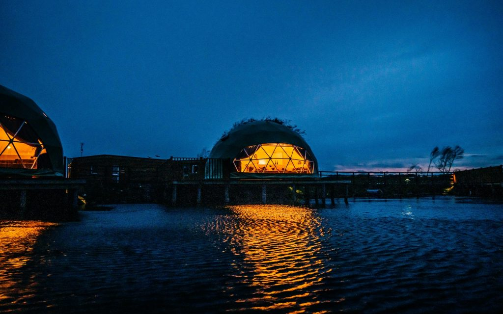 Escape To A Waterside Haven In These Stunning Glamping Domes Just One Hour From Manchester