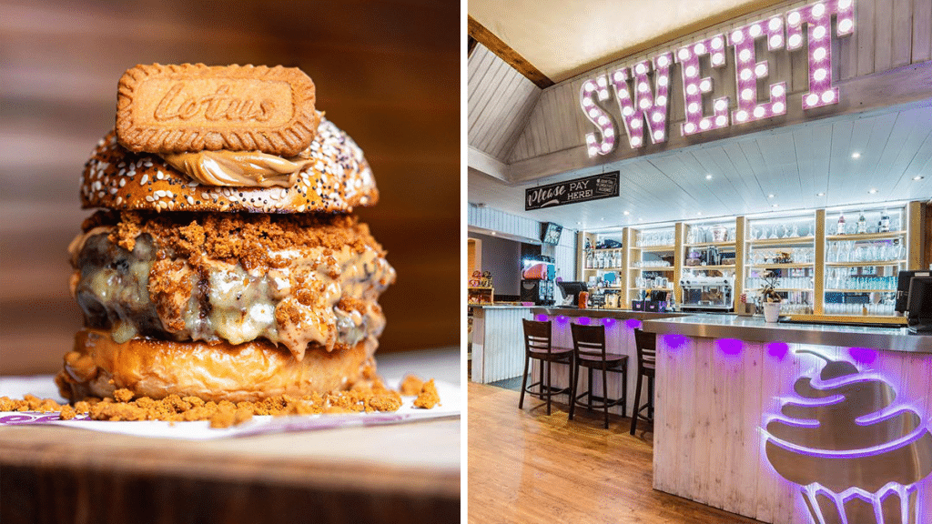 The Biscoff Burger Now Exists In Manchester & We're Not Sure How We Feel About It