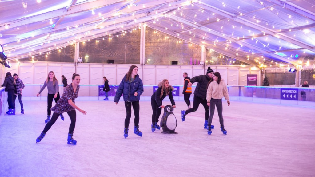 A Spooky 'Scare Skate' Rink Is Gliding Into Manchester This Halloween