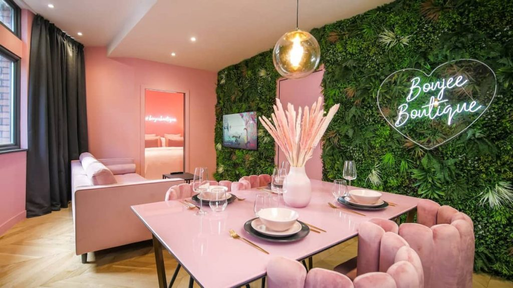 A Pretty-In-Pink Party Apartment Exists In The City Centre And It's Perfect For Squad Nights Out