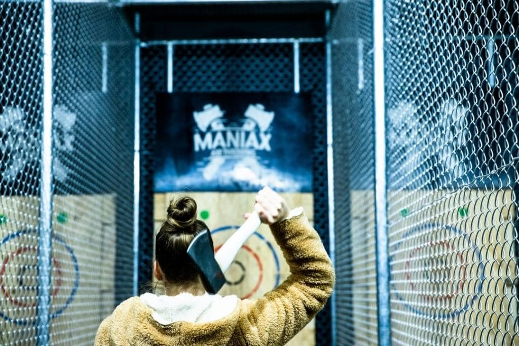 Hurl Hatchets And Drink Beer At This Axe-Throwing Venue In Abbotsford · Maniax