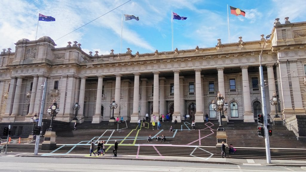 This Is How You Can Draw On The Steps Of Parliament House Without Getting Into Any Trouble