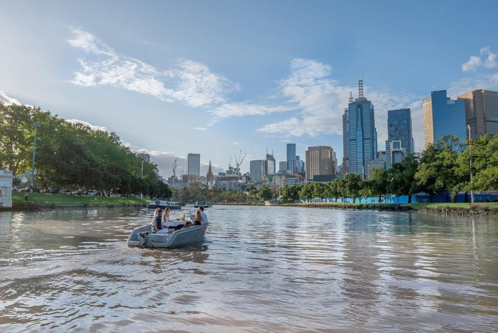 Skipper You And Your Mates Down The Yarra River On These Electric Boats