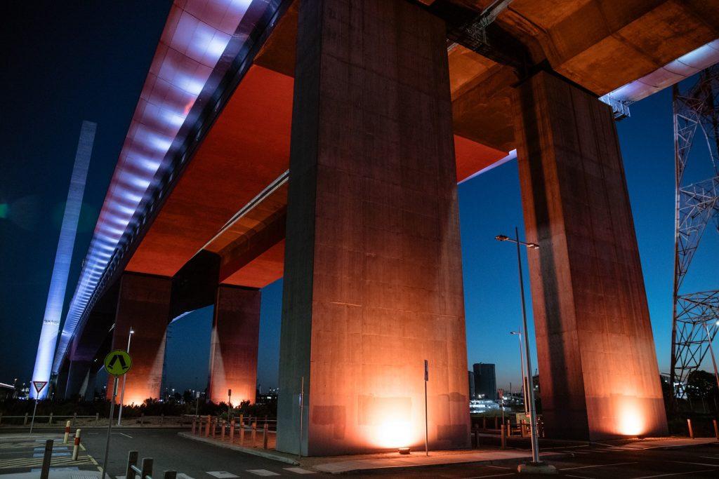 Underneath the Bolte Bridge