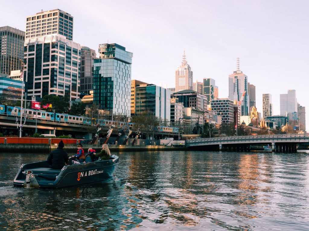 on a boat yarra river electric boat city melbourne