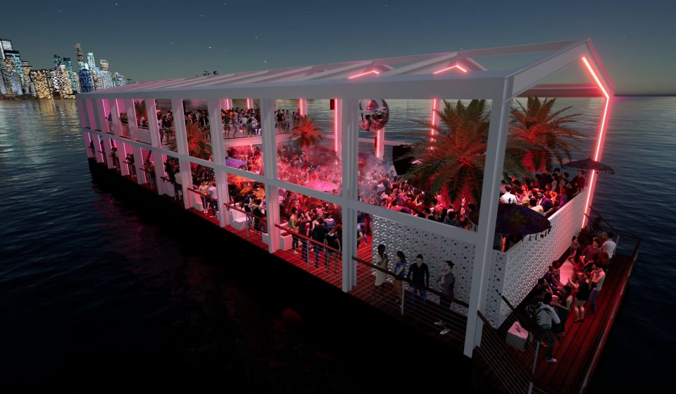A Fancy Outdoor Party Barge Is Floating Into Docklands This Summer