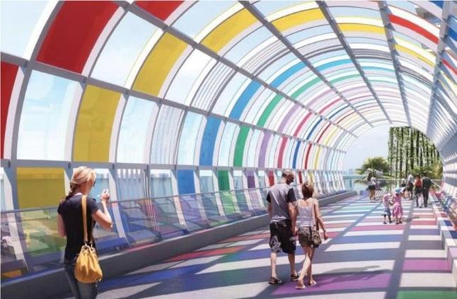 A Kaleidoscopic Bridge Is Set To Be Installed Above Miami Beach