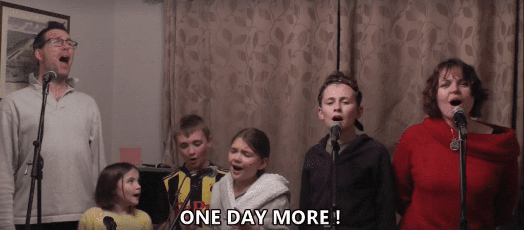 This Family's Lockdown Adaptation of Les Mis Sums Up Our Quarantine In A Song