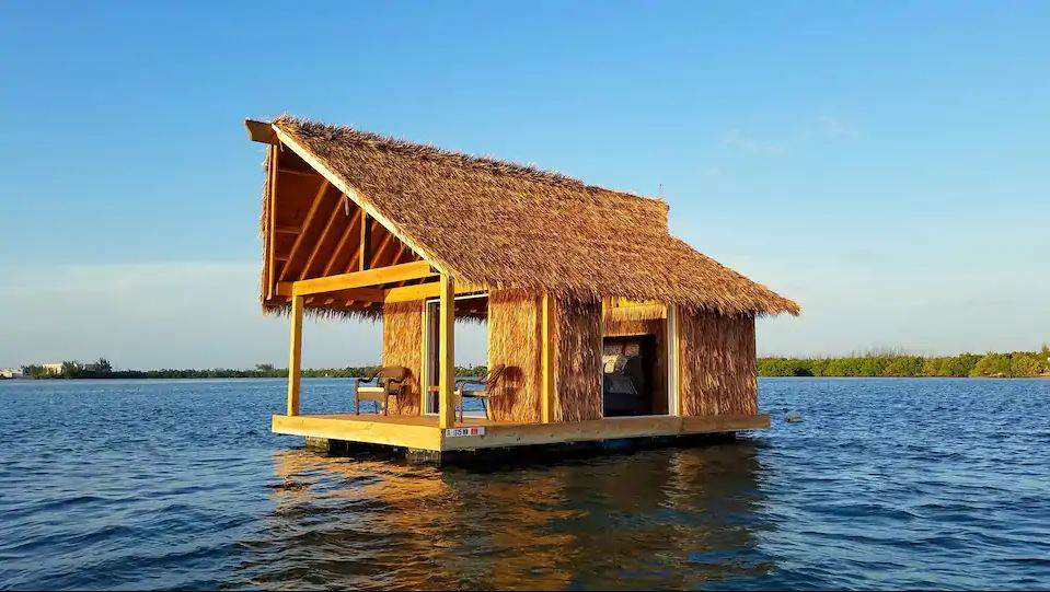 This Floating Tiki Hut In Key West Is A Secluded Tropical Paradise