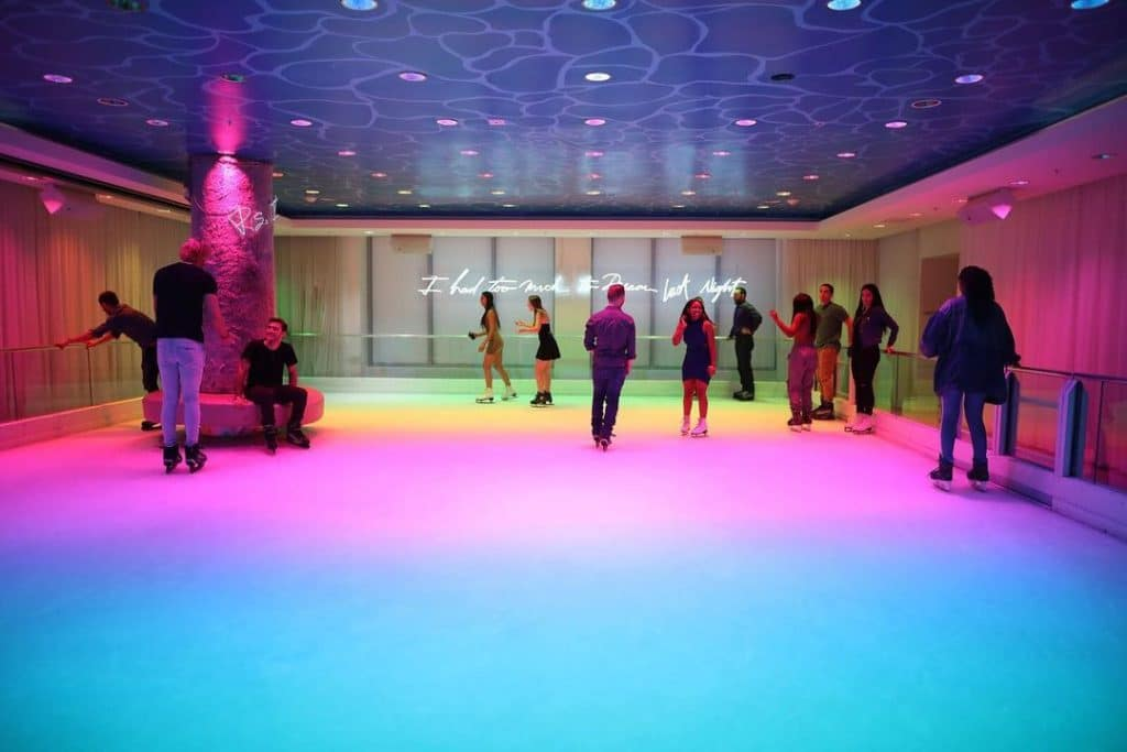 You Can Go Ice Skating On A Neon Rink Inside This Miami Nightclub