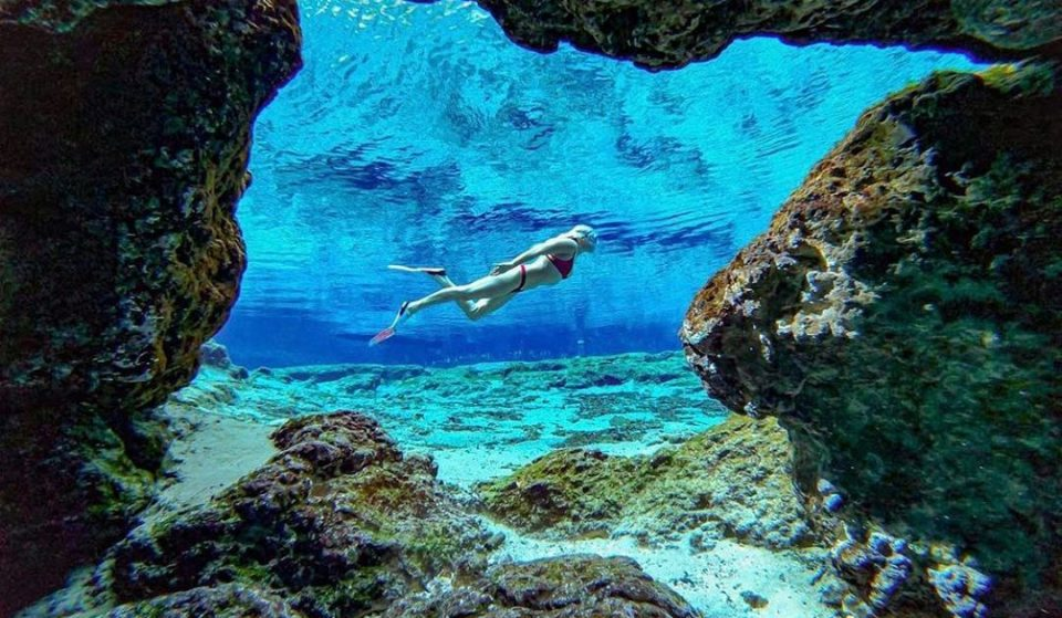 You Can Dive Into Stunning Underwater Caves At This Florida Park Just Hours Away From Miami