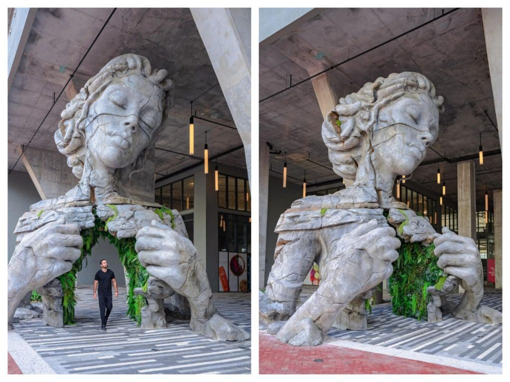This Magical, Leafy Sculpture In Fort Lauderdale Is Giving Us Major Tulum Vibes
