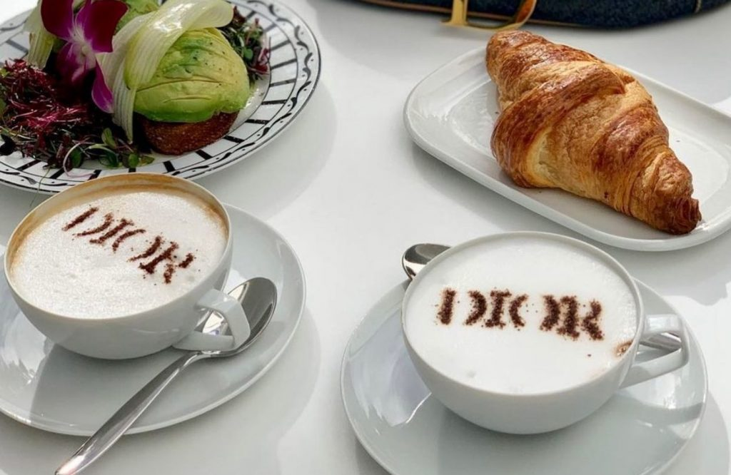 Elevate Your Morning Coffee With A Latte At This Totally Chic Design District Hideout • Café Dior
