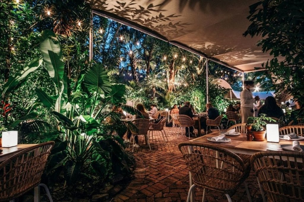 This Lush Garden In Coconut Grove Is Perfect For A Magical Al-Fresco Dinner