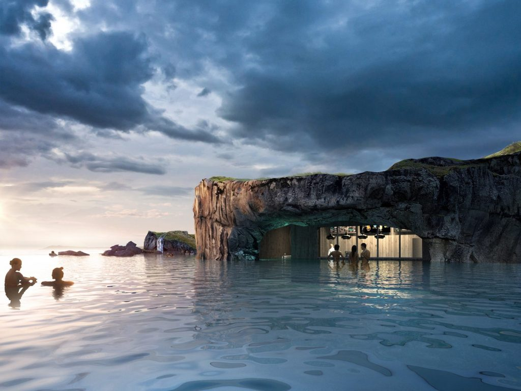 Iceland Opens New Oceanfront Geothermal Lagoon With Views Of The Northern Lights