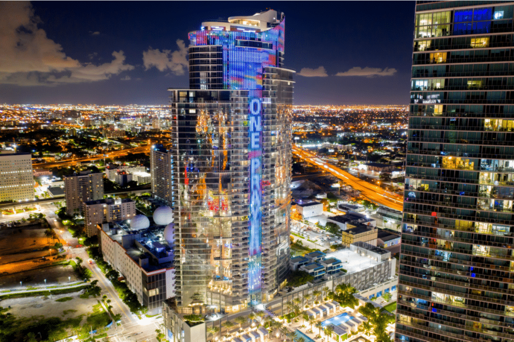 Paramount Miami Worldcenter Will Be Lighting Up Every Night To Honor Those Still Missing In The Surfside Collapse