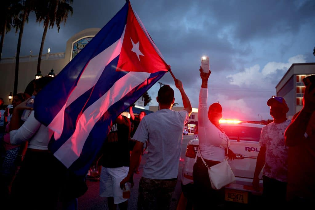 20 Powerful Images From Miami #SOSCUBA Solidarity Protests In Little Havana This Weekend