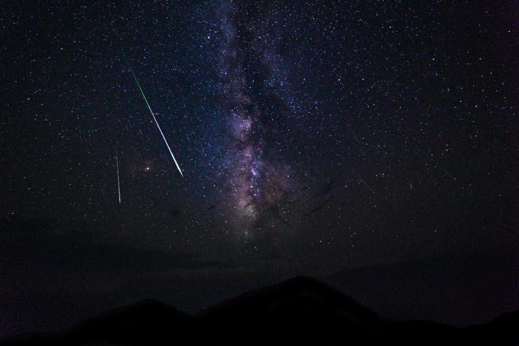 Heute und morgen Abend kann man Sternschnuppen bewundern