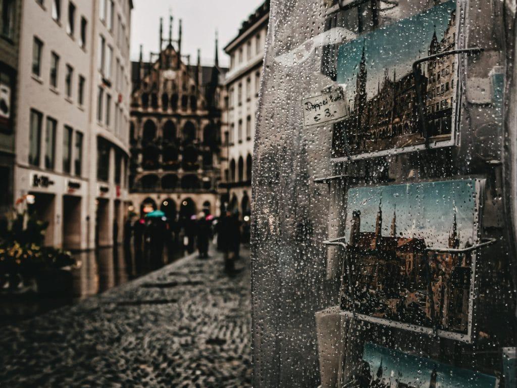 München hat ein regnerischeres Wetter als London