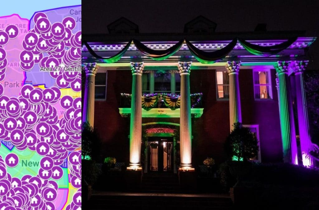 This Interactive Map Guides You To All The Mind Blowing Yardi Gras Decoration Displays Around New Orleans