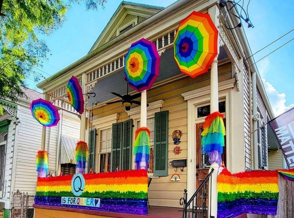 House Float Phenomenon Continues With Pride Decorations Taking Over NOLA!