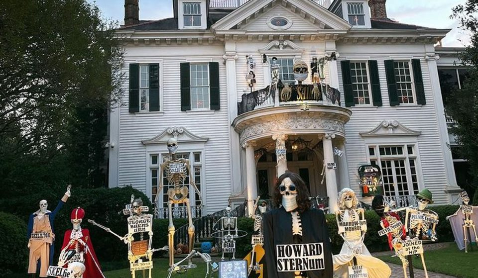 The Skeleton House Is Back This Year On St. Charles Avenue