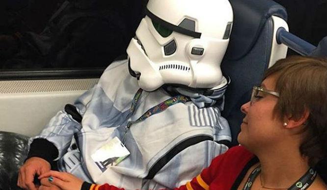 People of Penn station stormtrooper