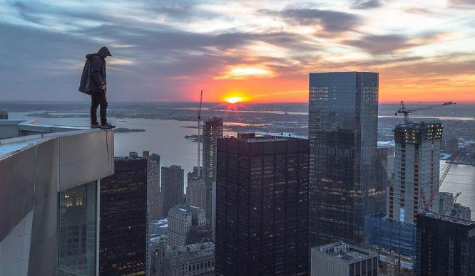 James McNally Jamkiss NYC building climb