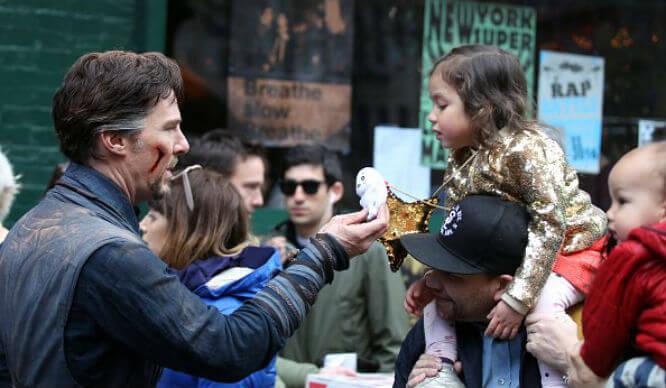 Cumberbatch and baby girl