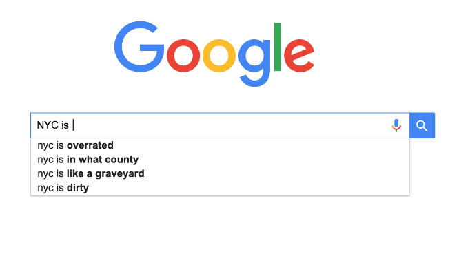WTF Is Google Auto-Complete's Problem With NYC?