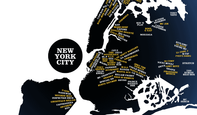 NYC hip-hop map feature