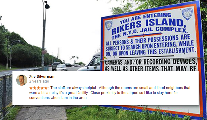 Before Rikers Island Closes Check out the Hilarious Google Reviews
