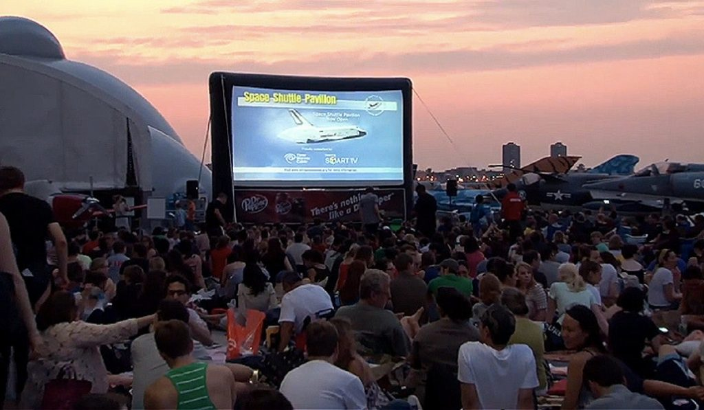 Watch Free Movies On Deck Of An Aircraft Carrier In NYC This Summer